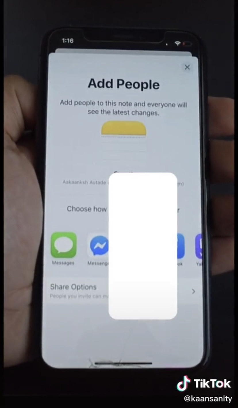 "An iPhone screen that reads ""Add people"""
