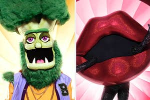 The Broccoli and Lips masks from The Masked Singer