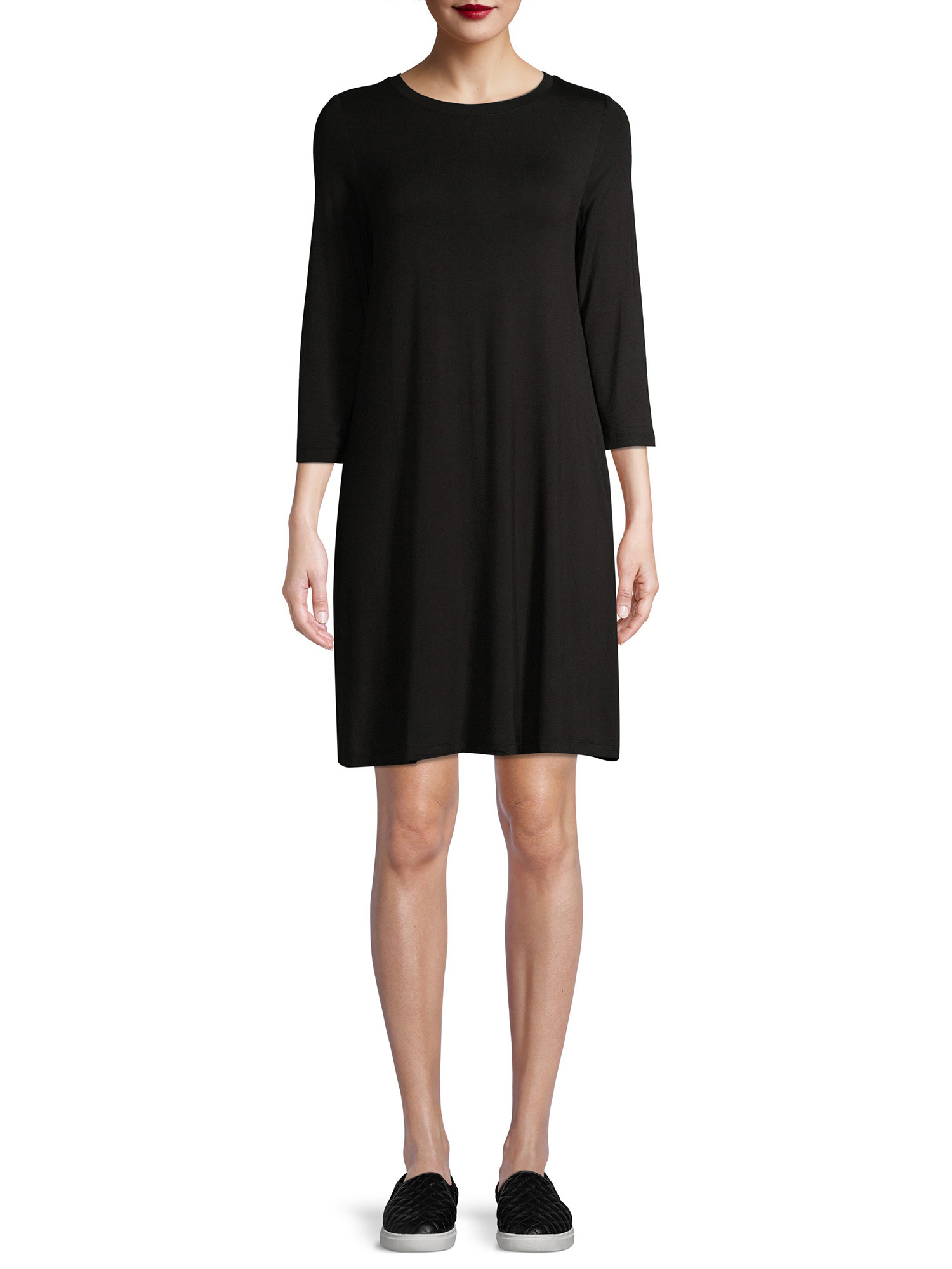 The black knit dress