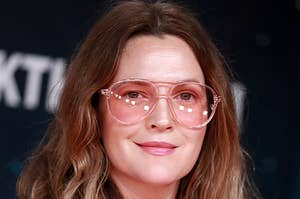 Drew Barrymore wearing sunglasses at an event