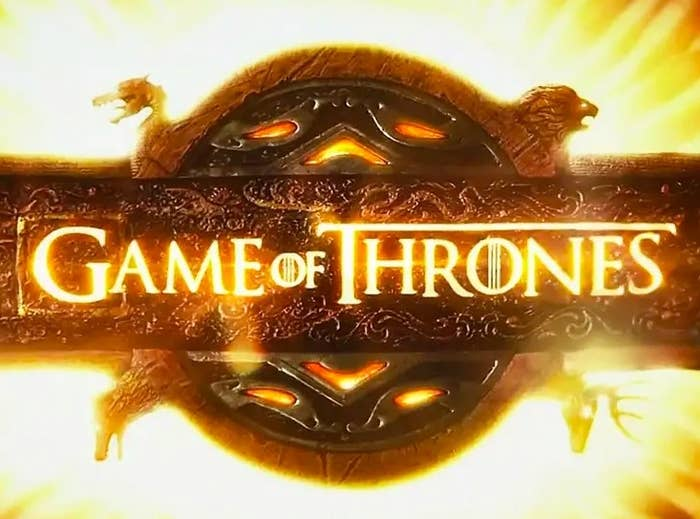 Game of Thrones logo from the opening titles of the show