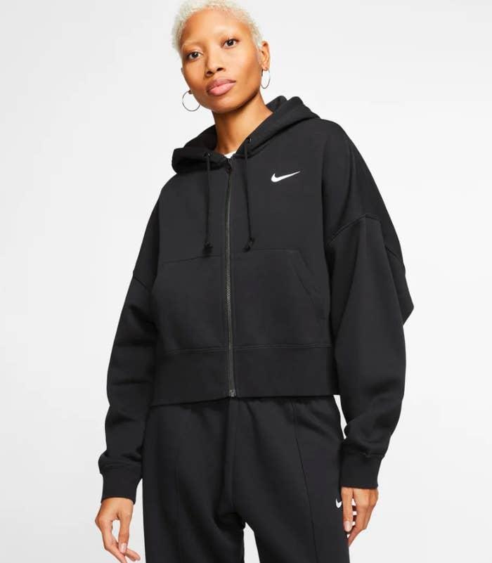 the hoodie in black