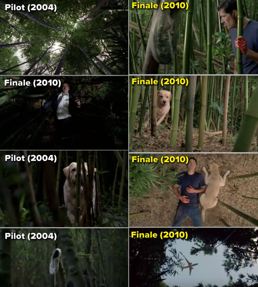 TV Moments, The mirroring of the first scene and the final scene in Lost.