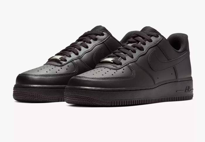 the nike shoes in black