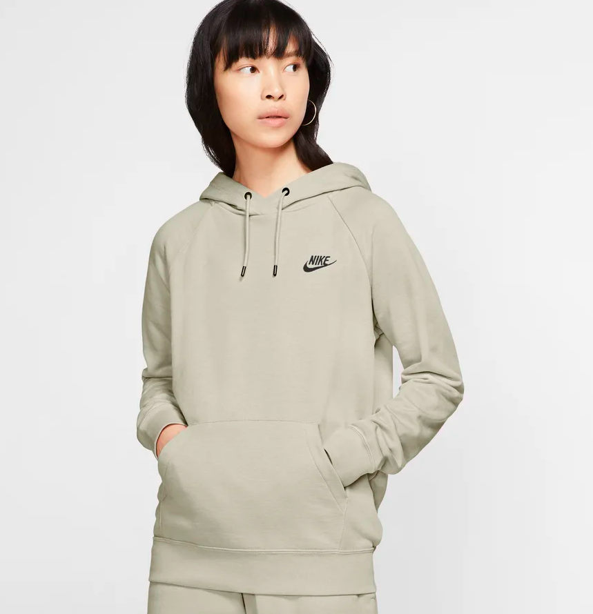 the sweatshirt in light olive green