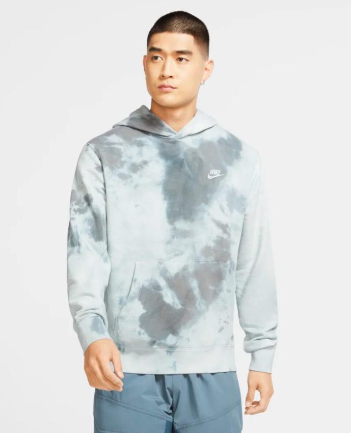 the sweatshirt in light blue tiedye