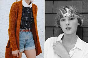 Fall outfit and Taylor Swift.