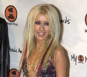 xtina with crimped hair