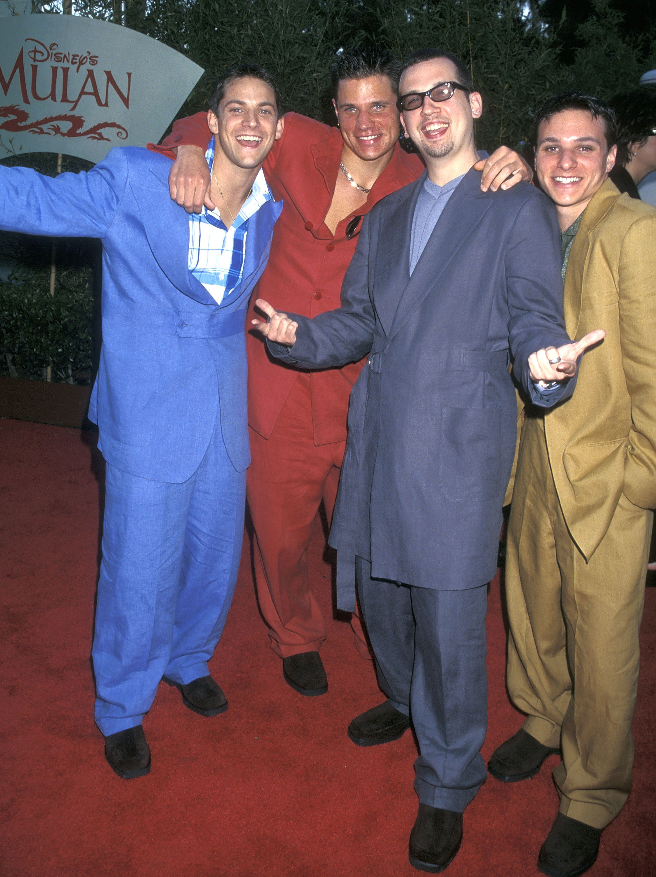 98 degrees in colorful baggy suits