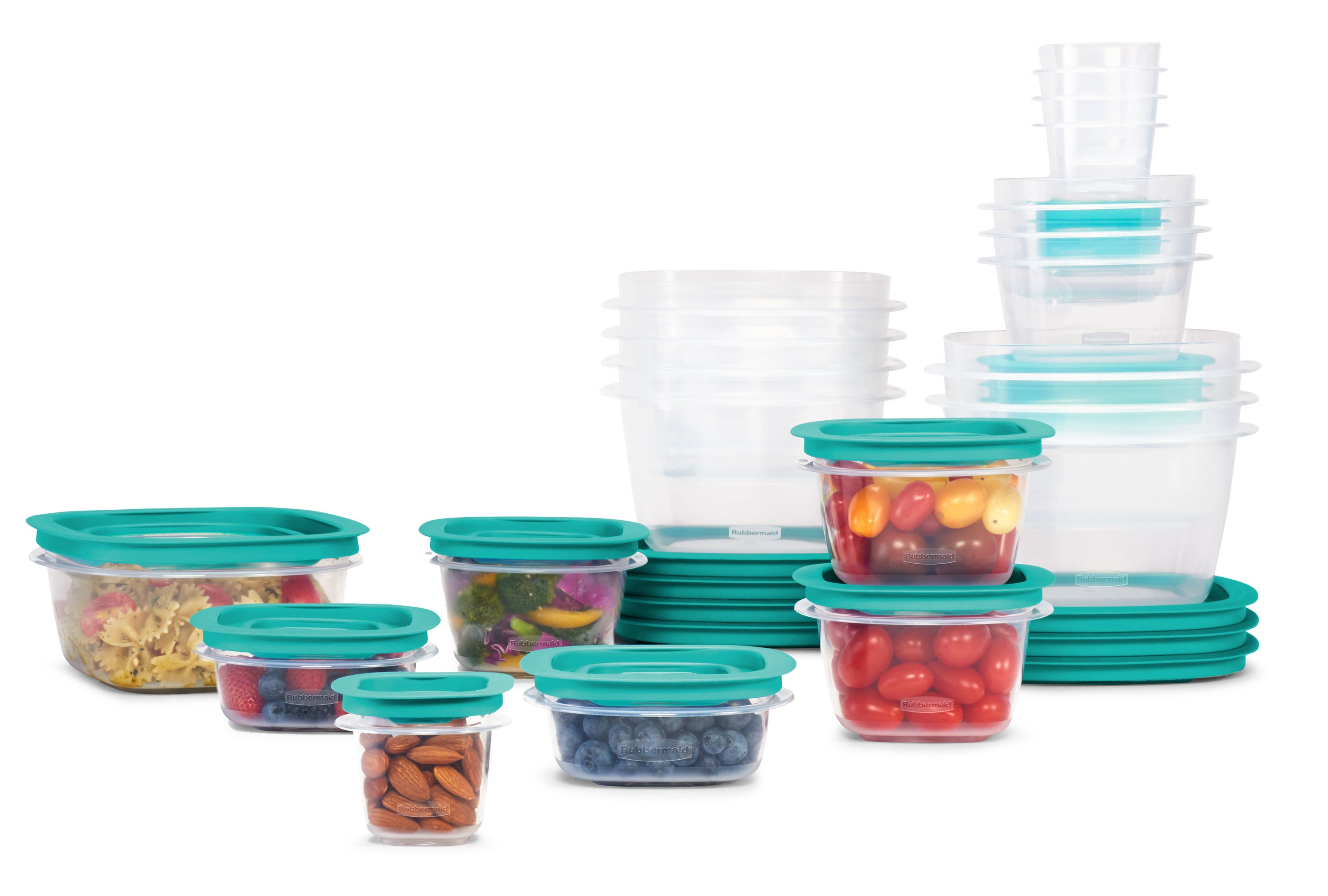 42 pieces of a food storage container set