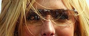 A closeup of the sunglasses