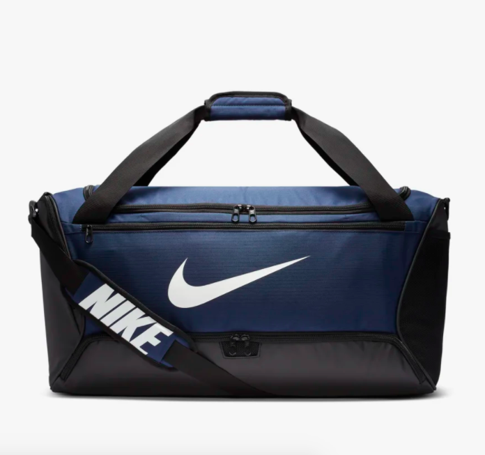the bag in navy blue