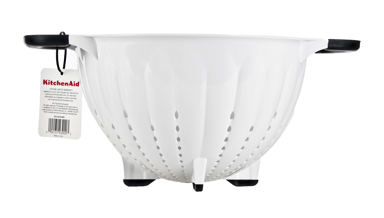 white kitchenaid colander