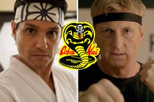 Daniel LaRusso and Johnny Lawrence from The Karate Kid and Cobra Kai