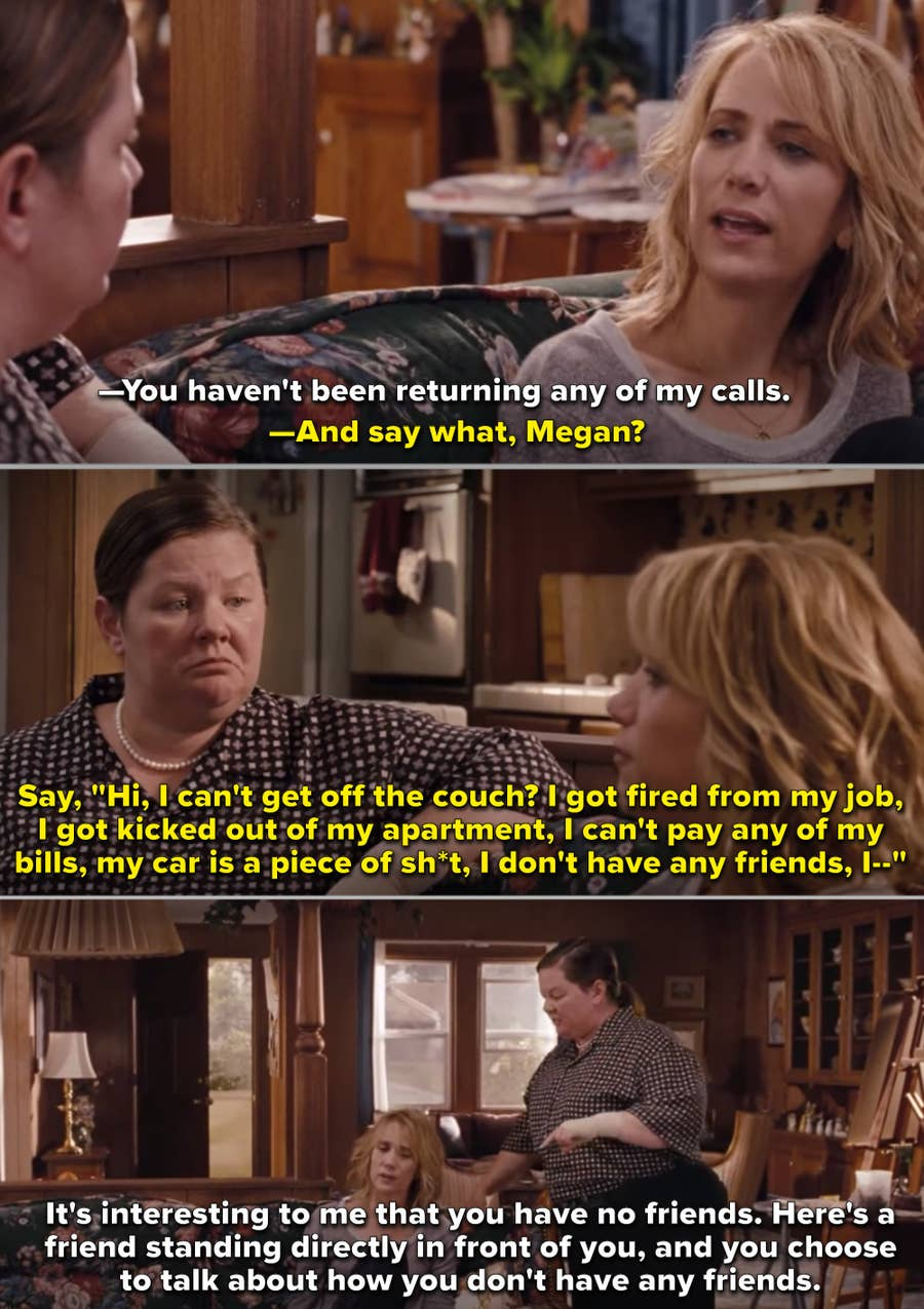 With her whining and complaining nature, Annie from Bridesmaids should have been straightly killed away from the show.
