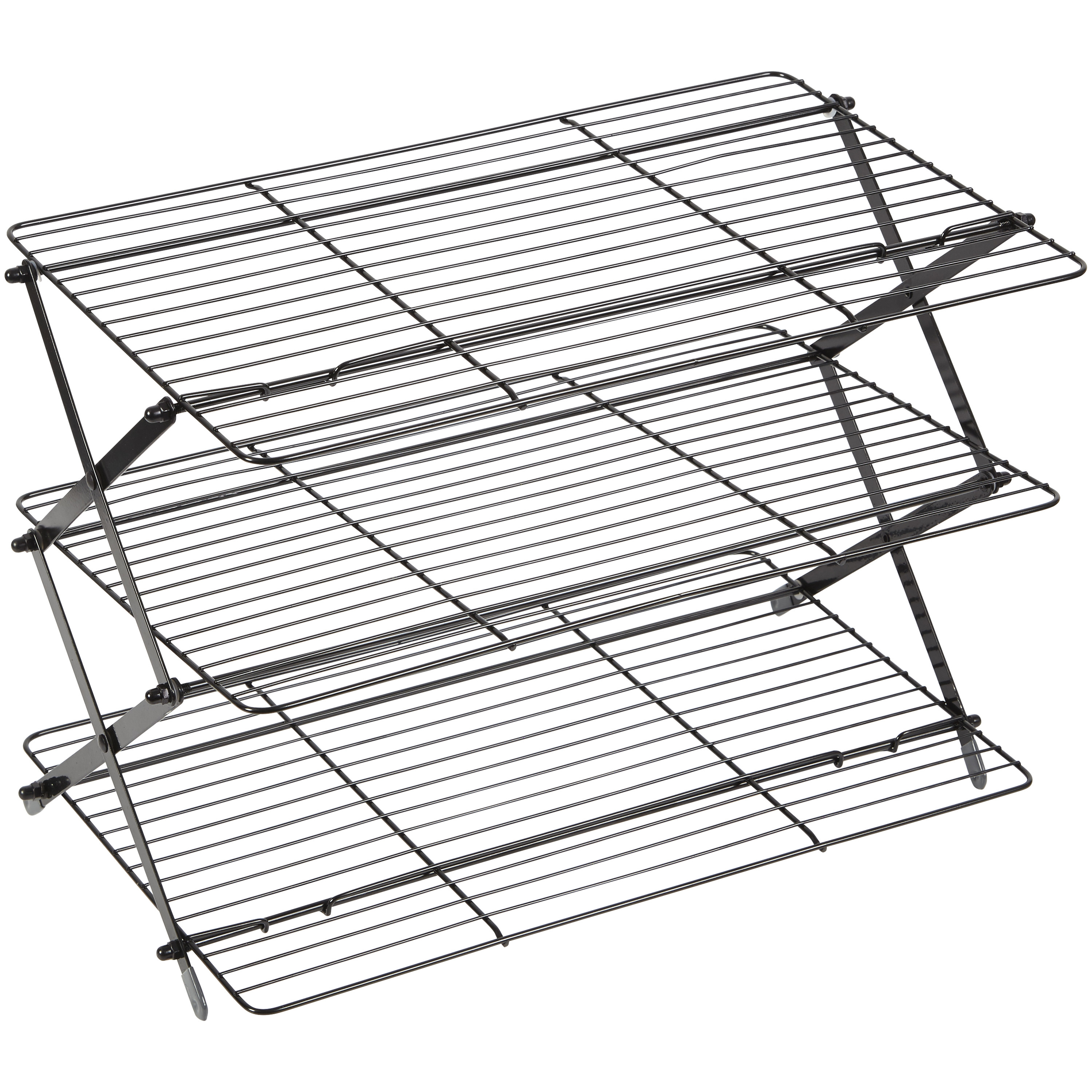 gray three tier cooling rack