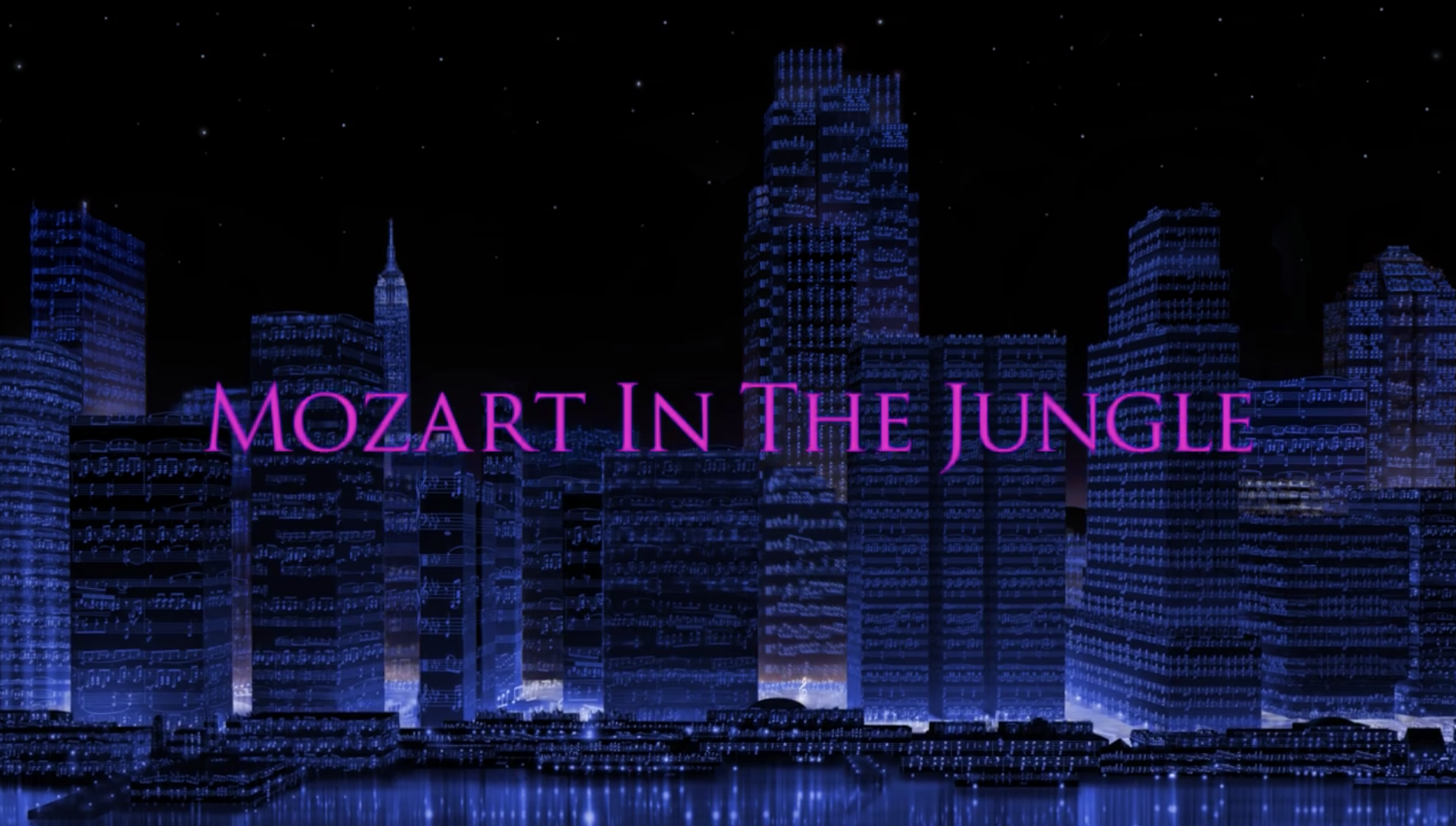 """Mozart in the Jungle"" title card."
