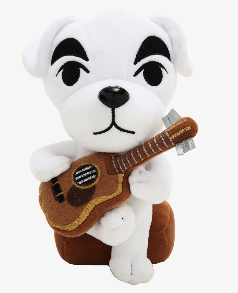 KK Slider from Animal Crossing plush with guitar in hand
