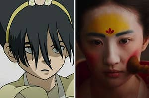 "Toph from ""Avatar: the Last Airbender"" and Mulan from ""Mulan"""