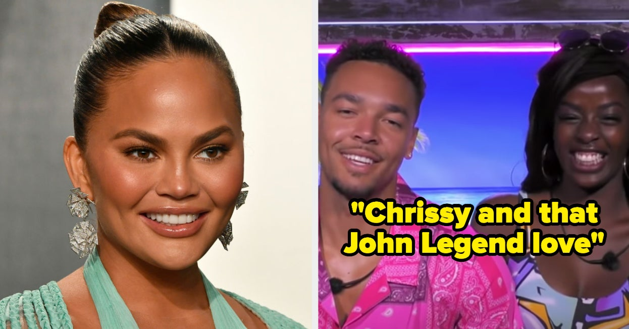 Chrissy Teigen Is A Fan Of Justine And Caleb On Love Island