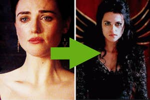 Morgana from Merlin in Season 1 and later as evil Morgana