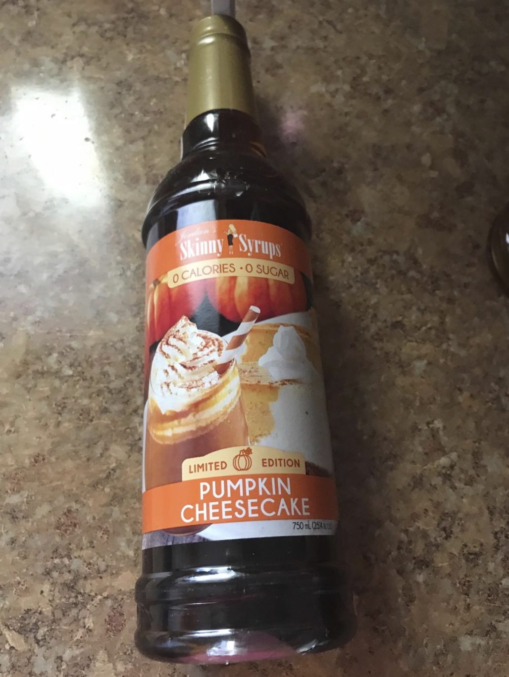 the pumpkin cheesecake syrup bottl