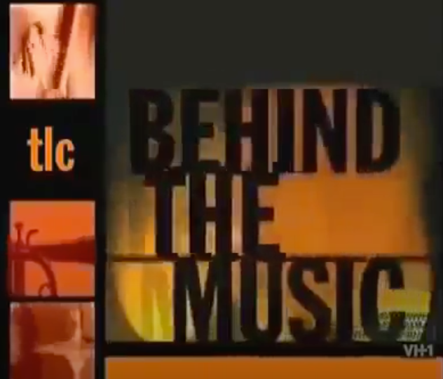 """A screenshot of the """"Behind the Music"""" logo for the TLC episode"""