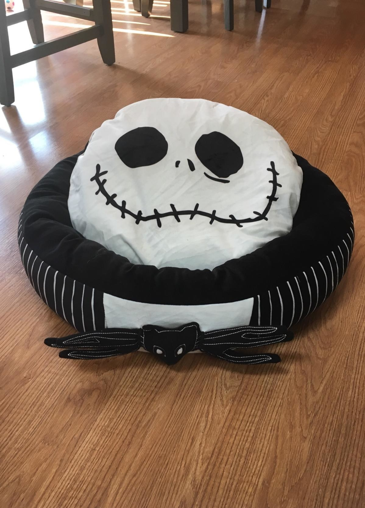 The Jack Skellington-themed bed