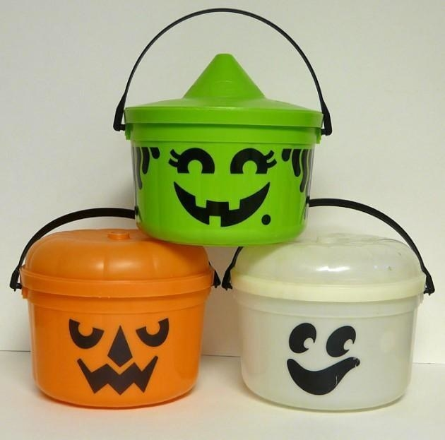 A pumpkin, witch, and ghost McDonald's Halloween Happy Meal Pumpkin