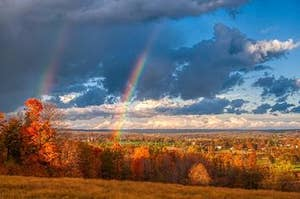 Credit: Jessica Lewis Via: Pexels / https://www.pexels.com/photo/scenic-view-of-sky-with-rainbow-1477359/