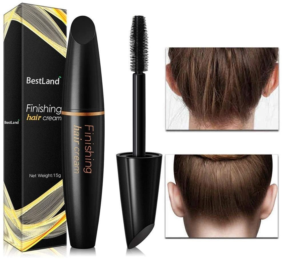 The hair finishing stick cleans up flyaways and loose hairs for updos