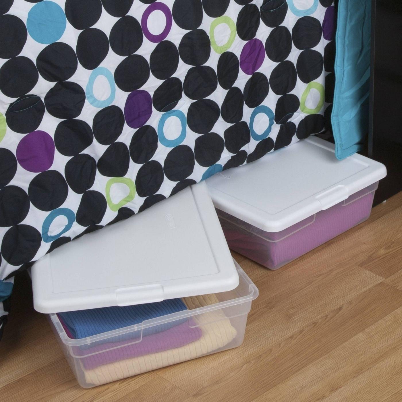 The under bed storage bins
