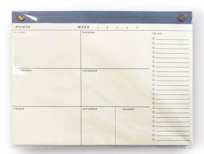 The desktop notepad calendar