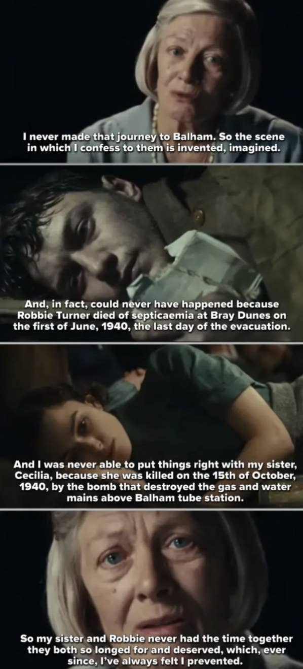From the movie Atonement, Briony Tallis destroyed two lives because of her childhood jealousy and manipulated us as she's doing the right thing.