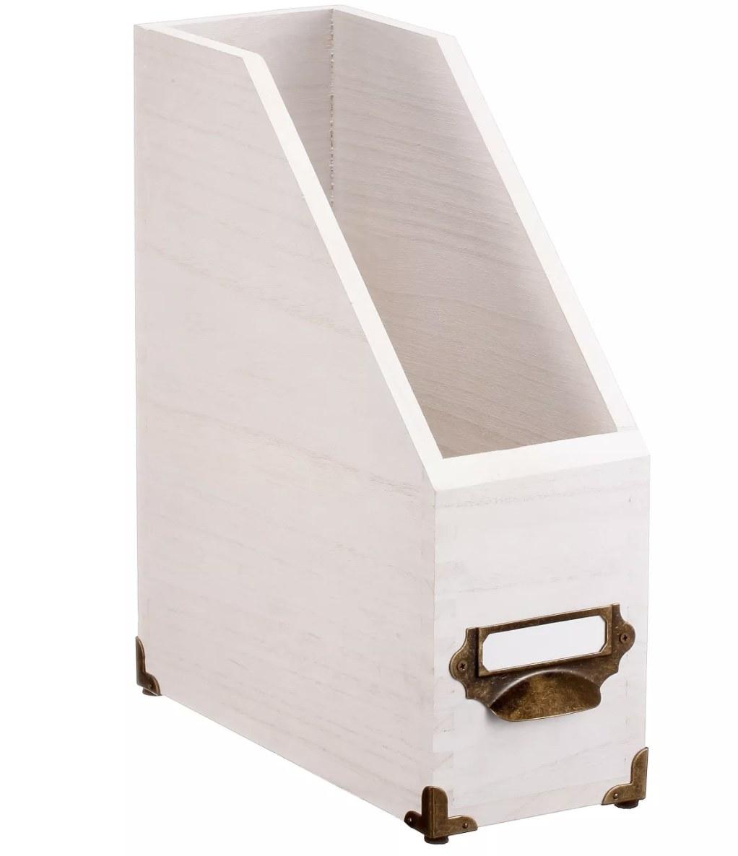 The magazine white wood holder