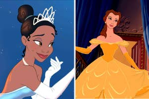 Princess Tiana and Princess Belle.