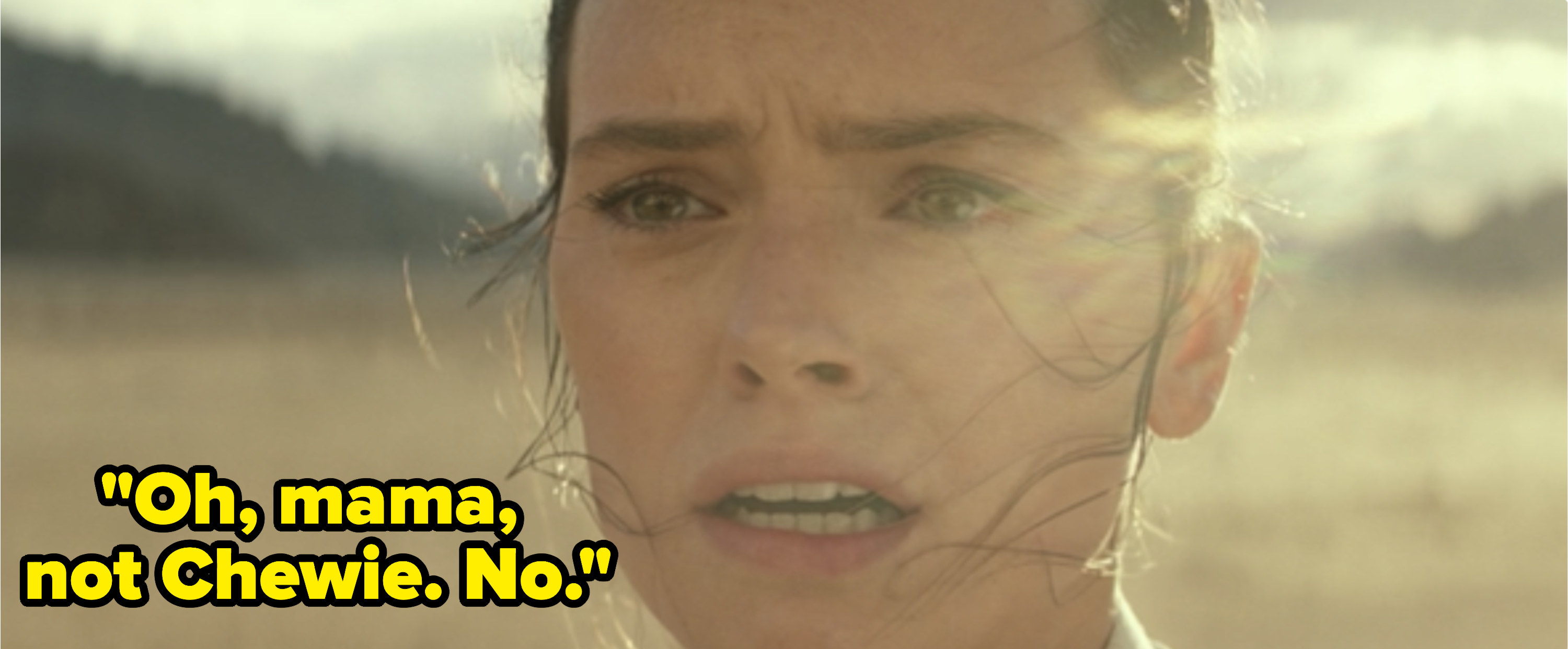 Rey thinks she blew up Chewbacca's ship