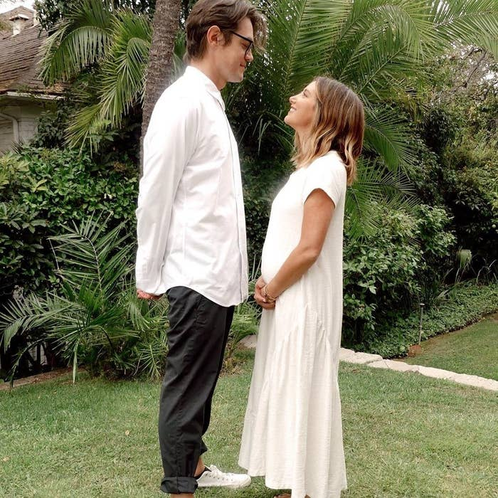 Christopher French and Ashley Tisdale gazing into each other's eyes