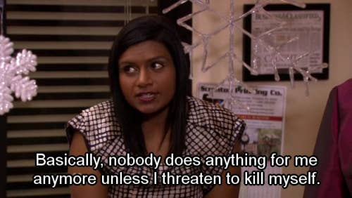 "Kelly saying that nobody does anything for her anymore unless she ""threatens to kill herself."""