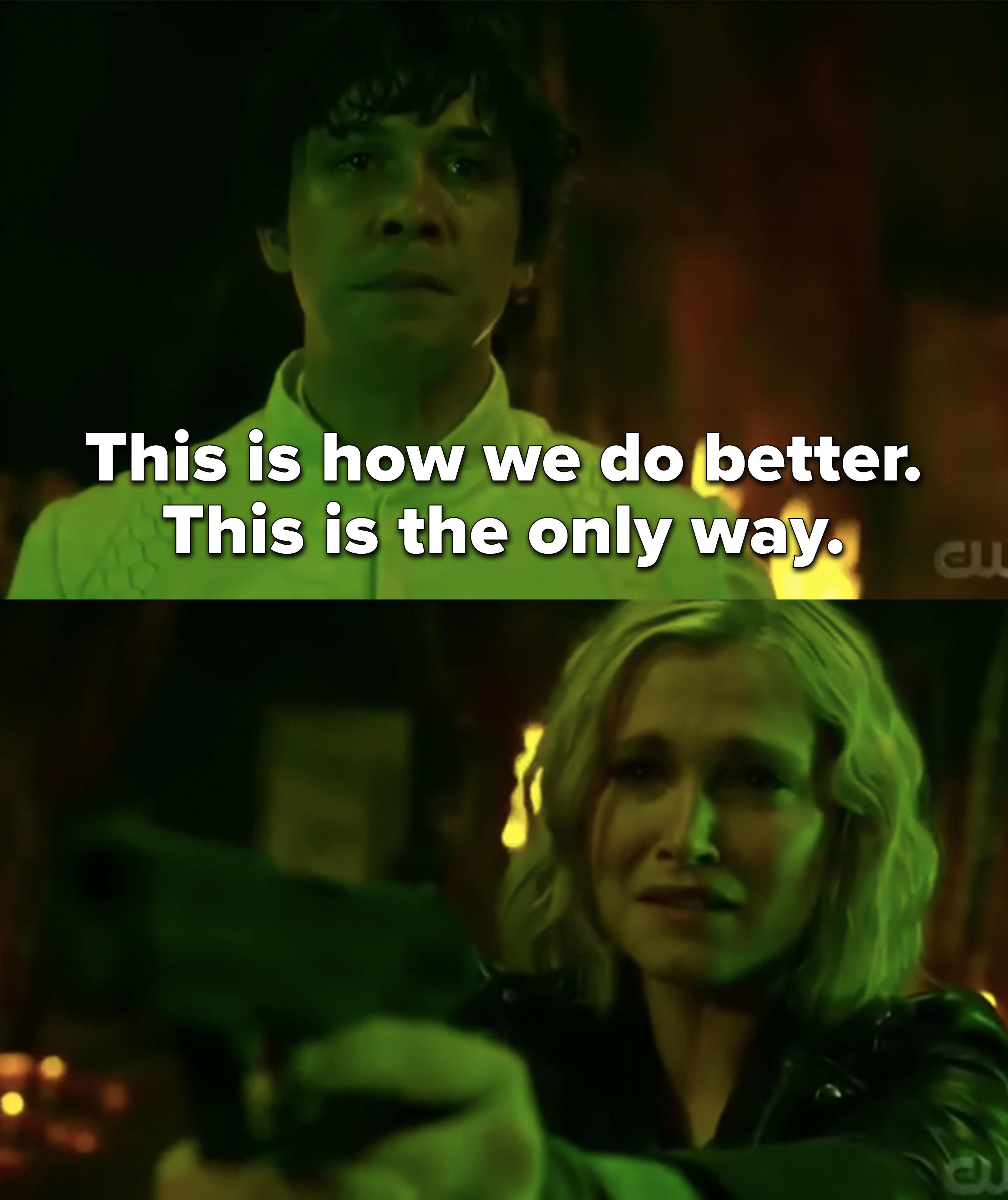 Clarke shoots Bellamy