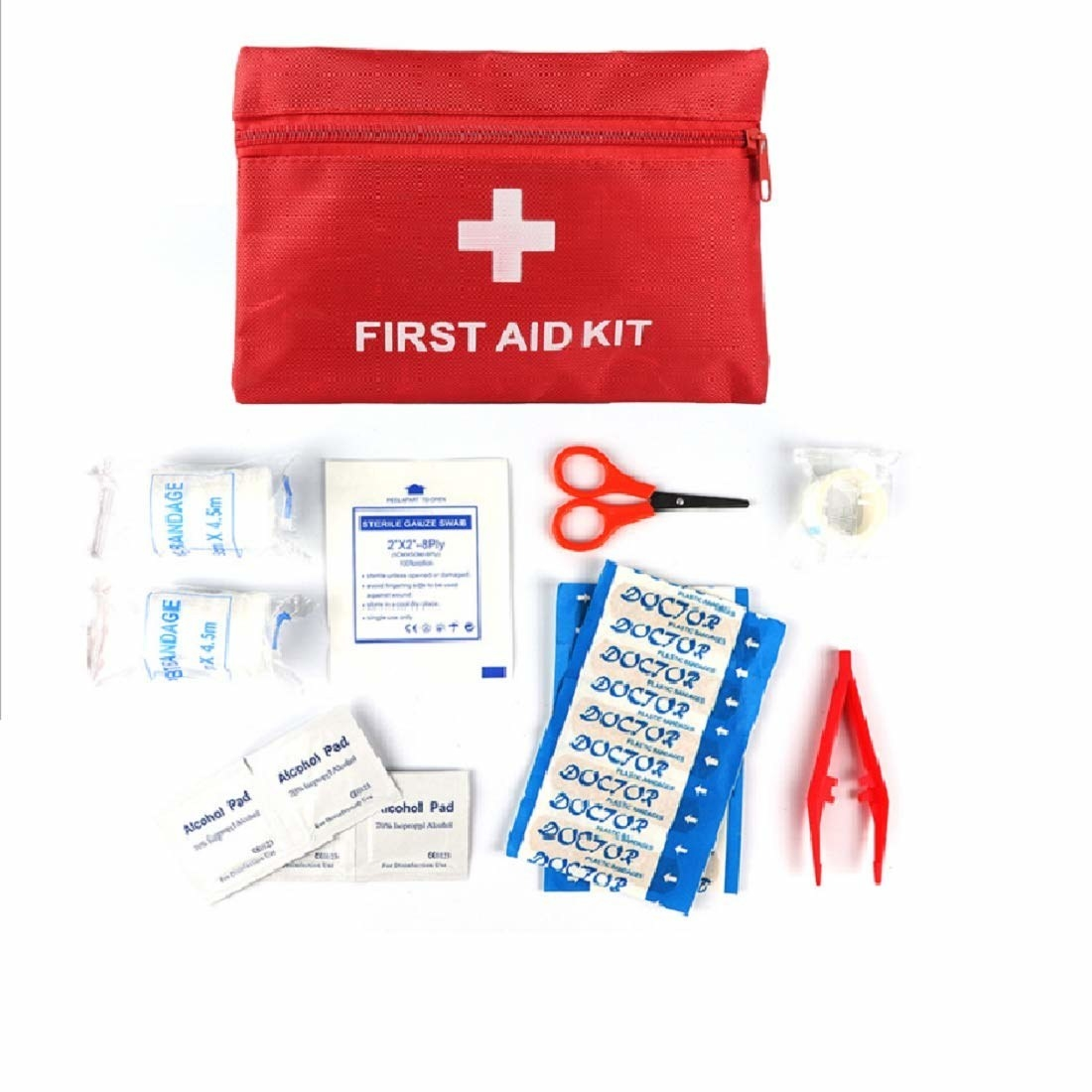 A first aid kit with the essentials