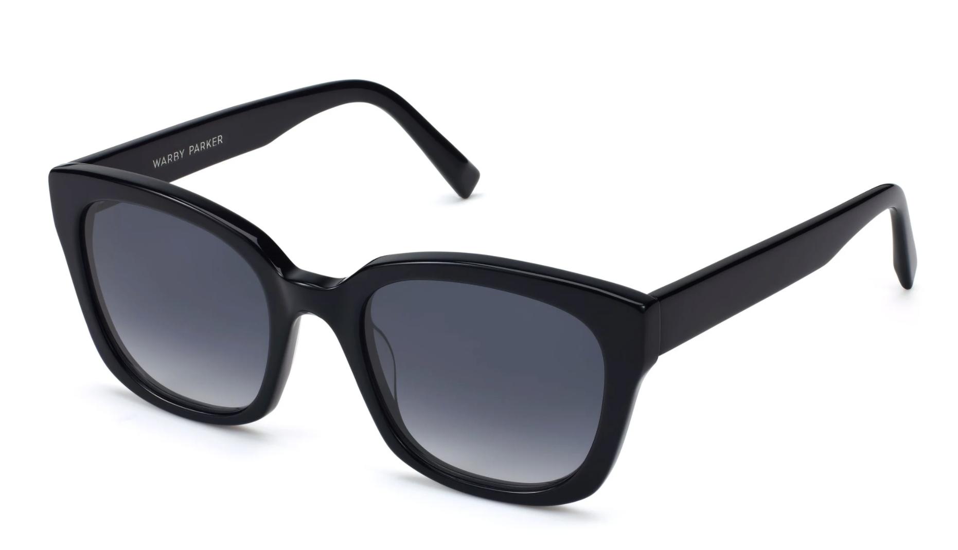 the black sunglasses