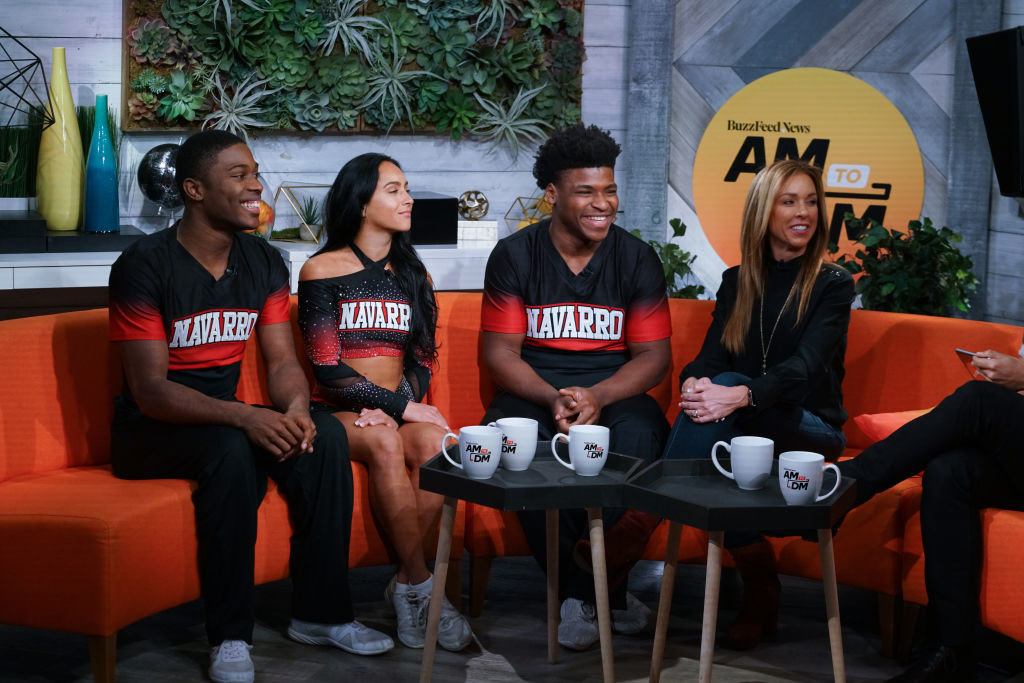 "The cast of ""Cheer"" in an interview"
