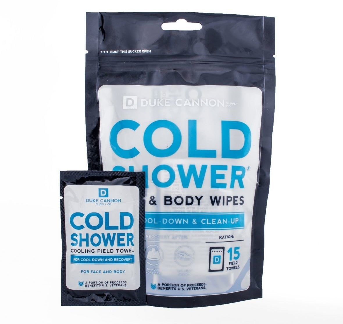a pack of cooling body wipes