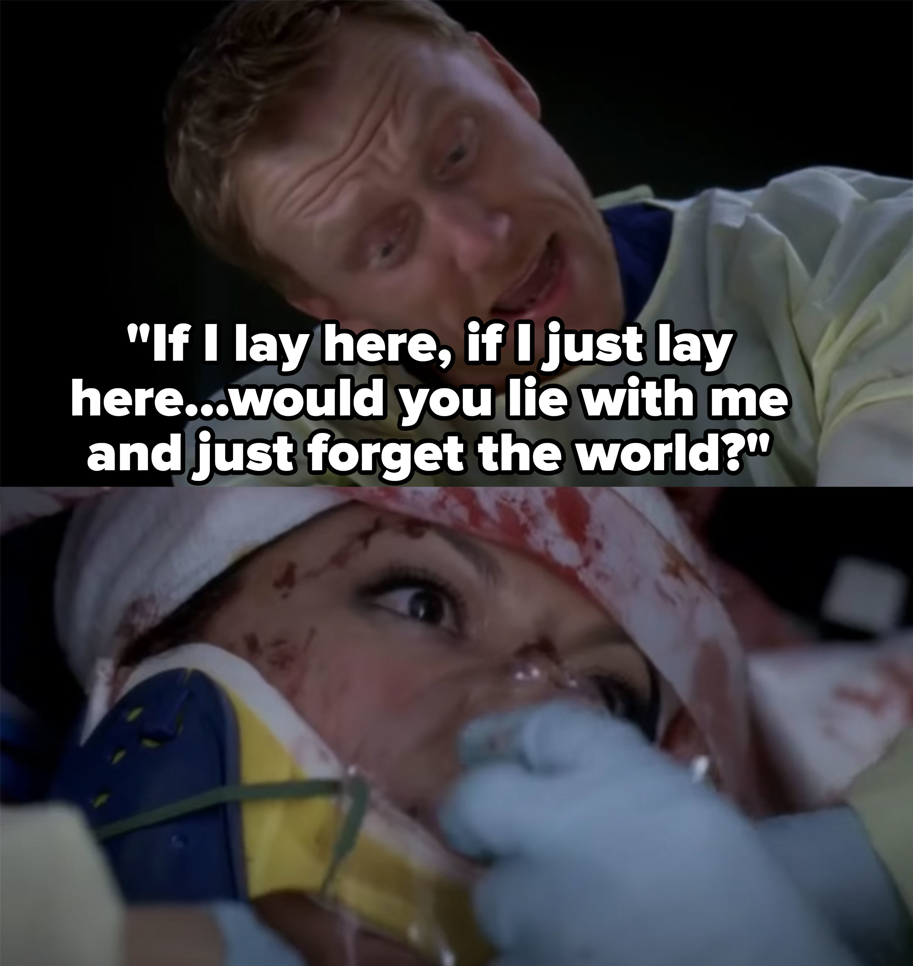 "Singing ""Chasing Cars"" during Callie's surgery"