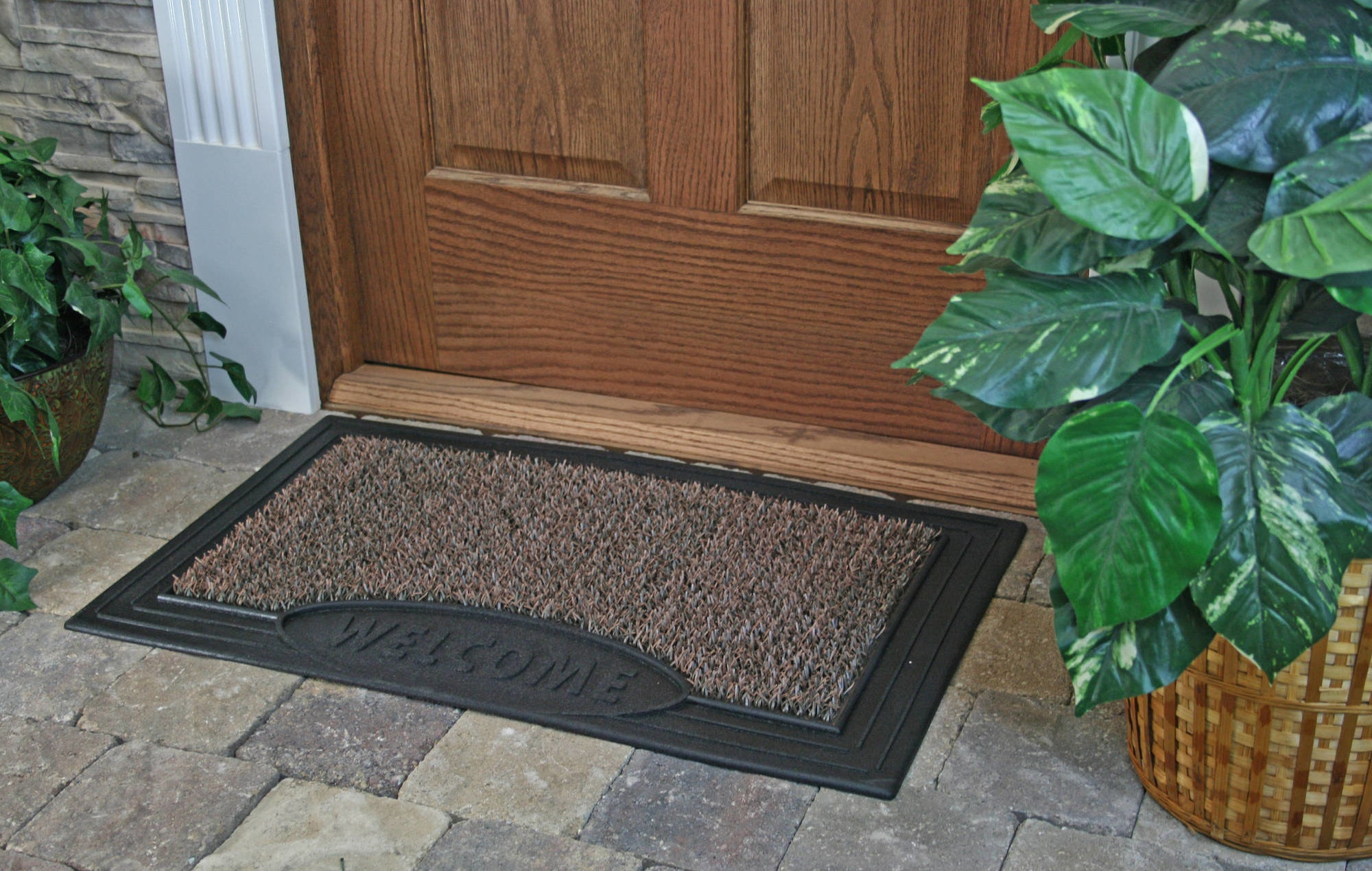 The sandbar brown scraper welcome doormat