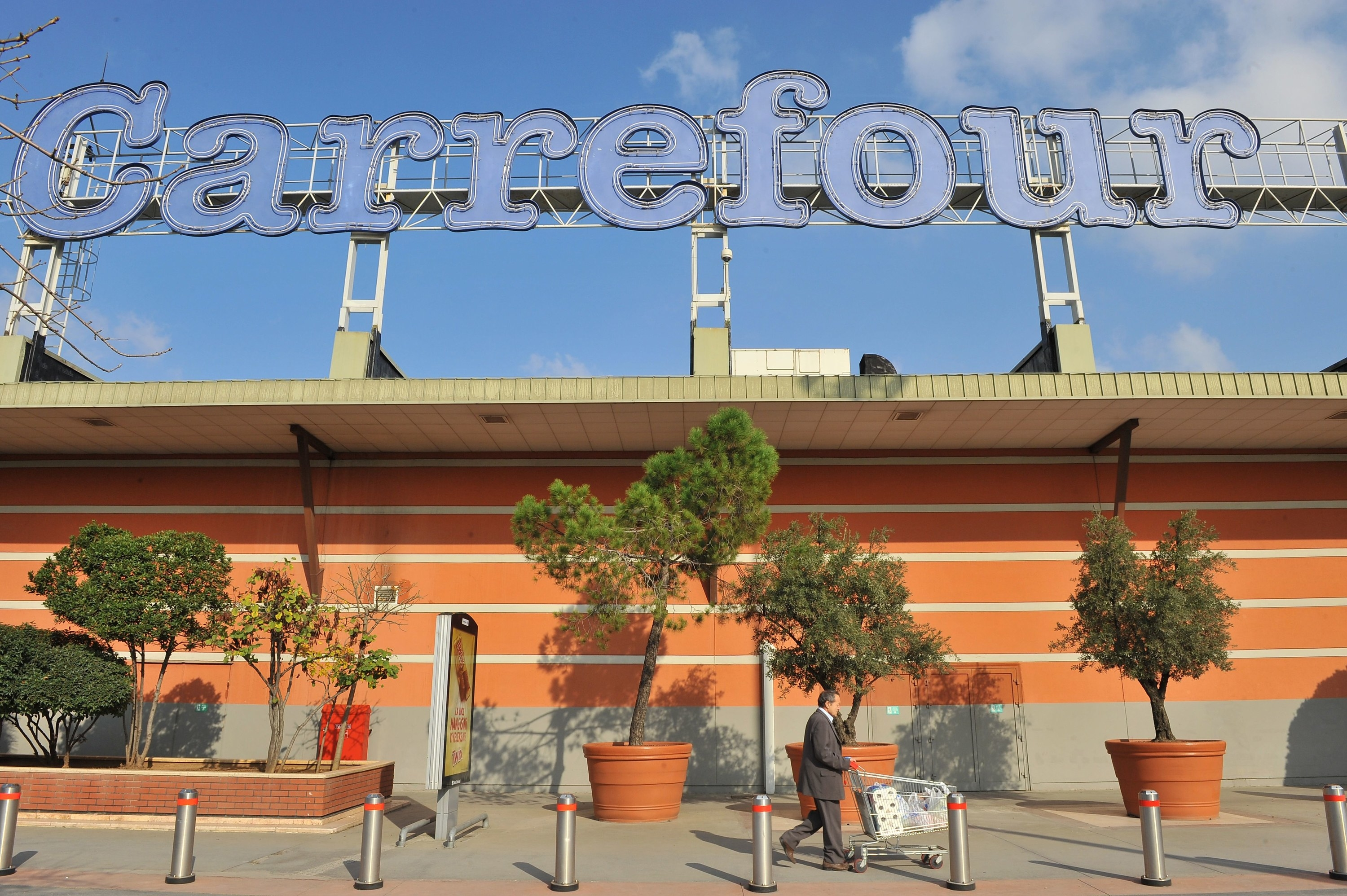 The exterior of a Carrefour supermarket