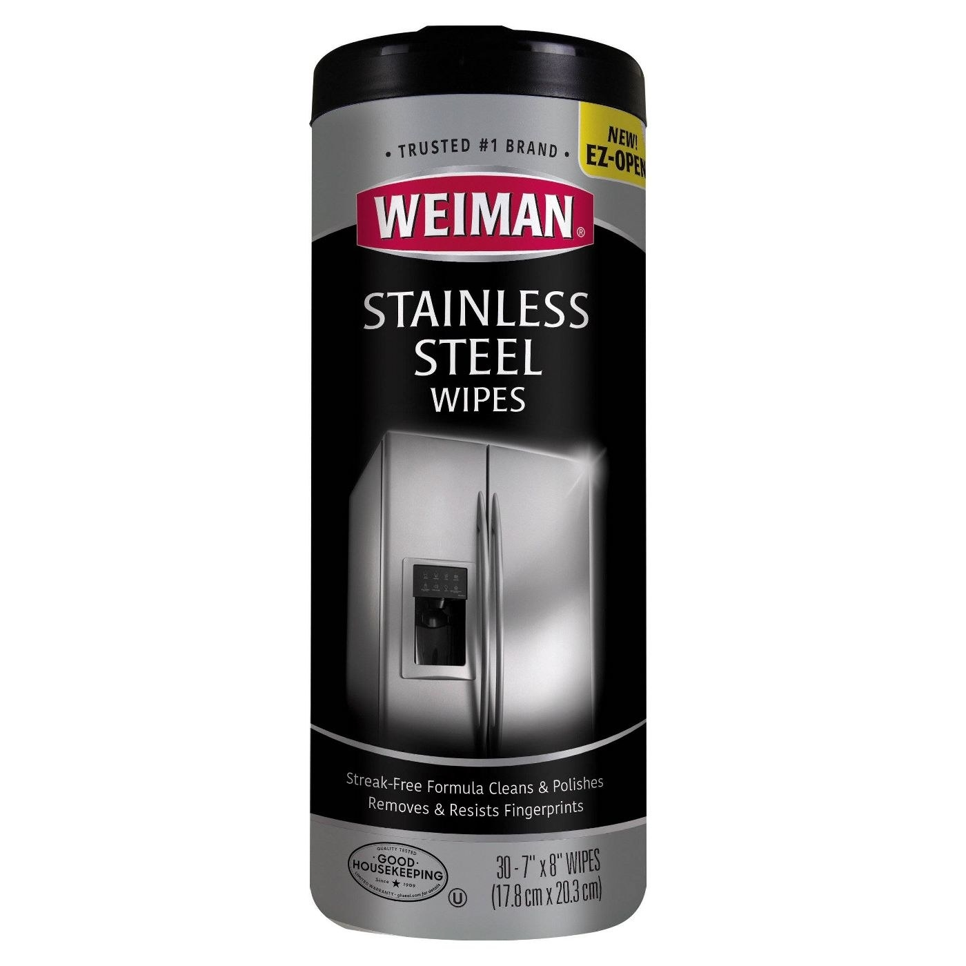 a pack of stainless steel wipes on a white background