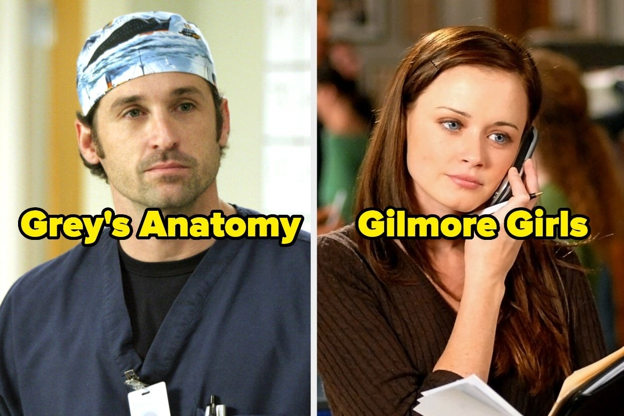 """Derek from """"Grey's Anatomy"""" and Rory from """"Gilmore Girls"""""""