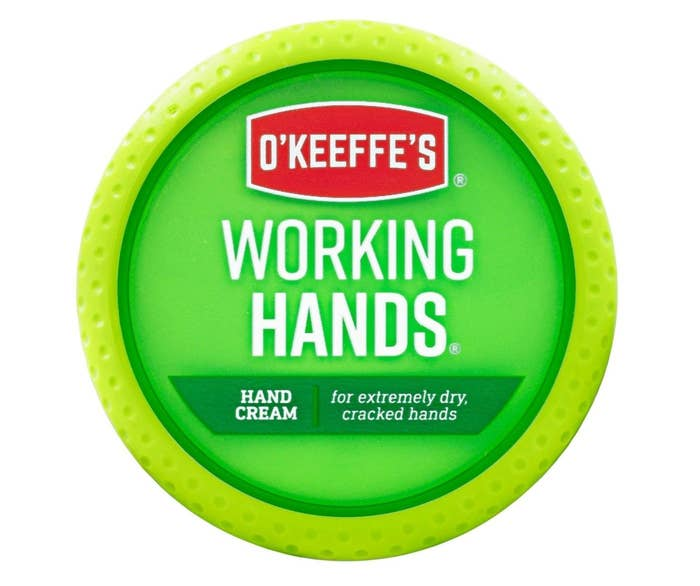 a tub of o'keeffe's working hands cream